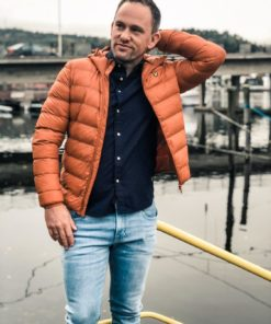 Lightweight Puffer Jacket Tobacco