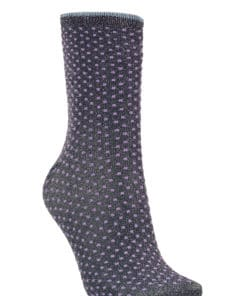 Dina Small Dots Sock Purple