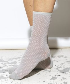 Dina Small Dots Sock Silver Gray