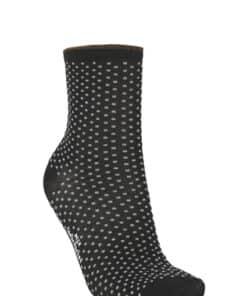 Dina Small Dots Sock Black