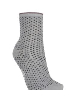 Dina Small Dots Sock Grey Melange