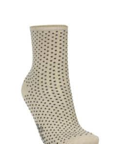 Dina Small Dots Sock Sand