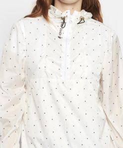 Mizar Hooded Anorak White with Black Dots
