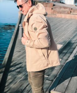 Short Technical Trench Parka Beige