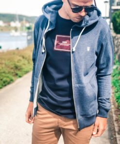 ELM Small Owl Zip Hoodie Sweat Insigna Blue Melange