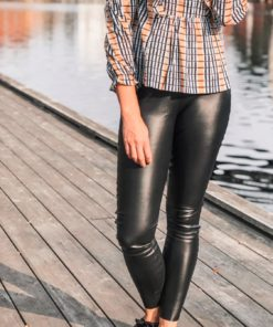 Kaylee PU Leggings Black