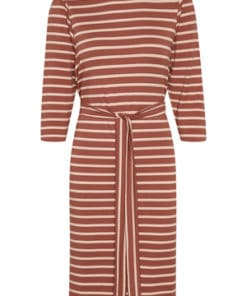 Olinda Dress Marsala with Coral
