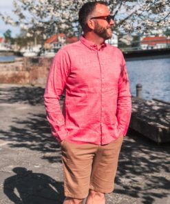LARCH Linen Shirt Scarlet