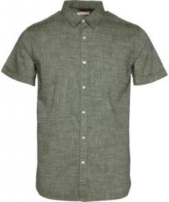 Larch SS Linen Shirt Pineneedle
