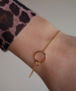 Bracelet Double Circle Gold