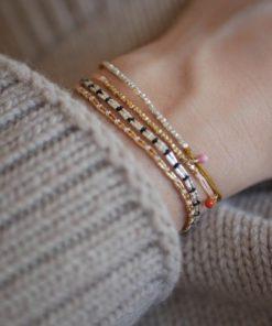 Bracelet Chalisa Gold Flamingo