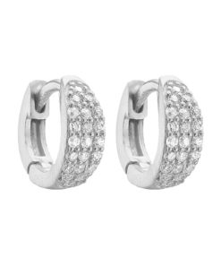 Hoops Sparkling Silver