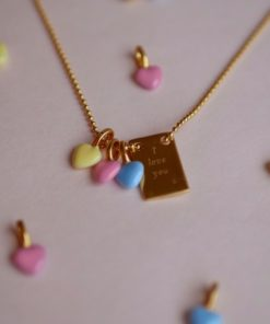 Enamel Charm Heart Light Yellow