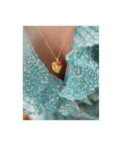 Enamel Charm Heart Ruby