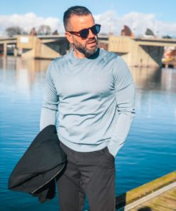 Flemming Crew Neck Blue Mirage