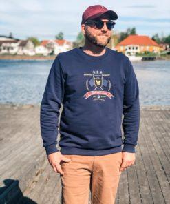 Crest Sweatshirt Navy