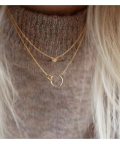 Necklace Double Circle Gold
