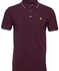 Tipped Polo Shirt Burgundy
