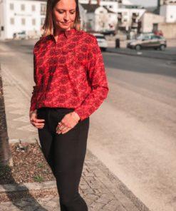 Oversized Boxy Fit Shirt Red
