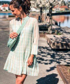 Elm Short Dress Carreau Menthe