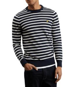 Breton Stripe Jumper Dark Navy