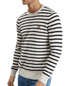 Breton Stripe Jumper Snow White