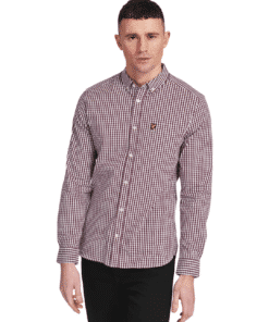 Slim Fit Gingham Shirt Burgundy