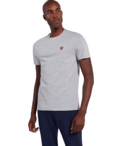 Plain Crew Neck T-Shirt Light Grey Marl