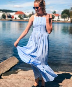 Mari Maxi Dress Blue Bell Stripe