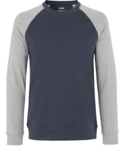 Cotton Rib Stelt Contrast Sweater Dark Grey/Grey