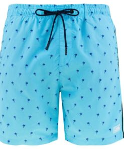 Printed Swim Shorts Blue