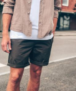 Light Cotton Sean Shorts Green