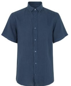 Dyed Linen Sawsett Shirt Saragasso Sea