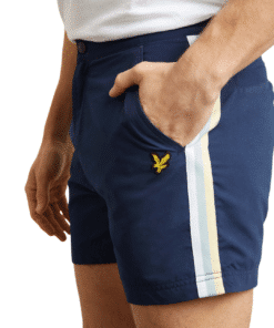 Side Stripe Swimshorts Navy