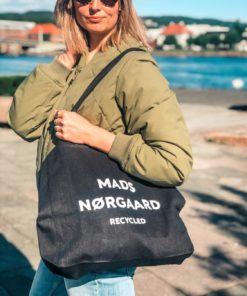Athene Recycled Botique Bag Dark Black/White