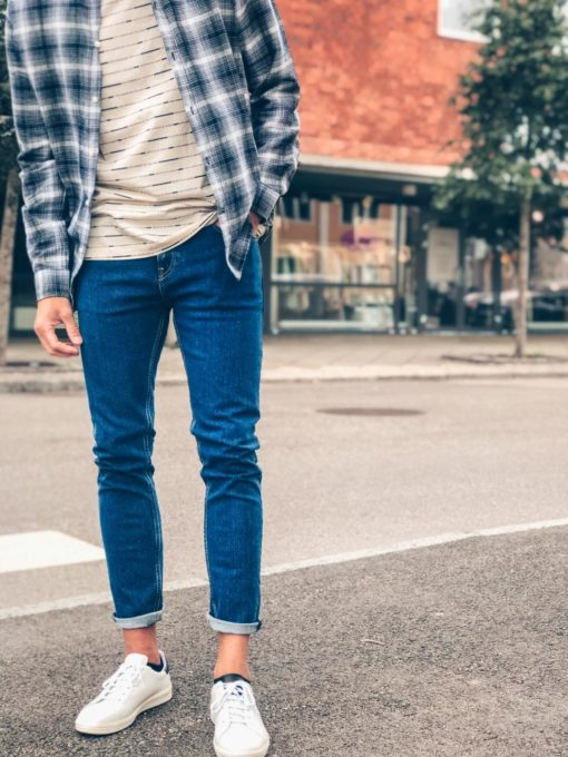 Skim Cropped Jeans Blauw Sails