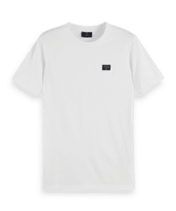 Short Sleeve Tee With Special Sealed Chest Label White
