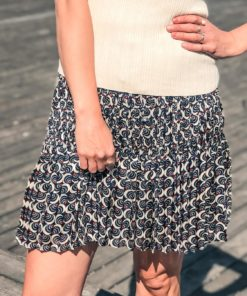 Allover Printed Short Skirt Printed