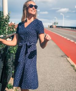 Degina Neo Paris Dress Navy Dot
