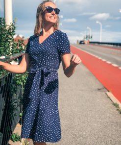 Degina Neo Paris Dress Navy Dot