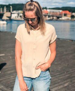 Majan ss Shirt Warm White