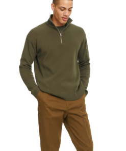 Guna Turtle Neck Zip Dark Olive