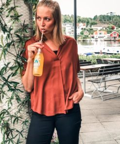 Pop Over Shirt in Relaxed Fit Picante