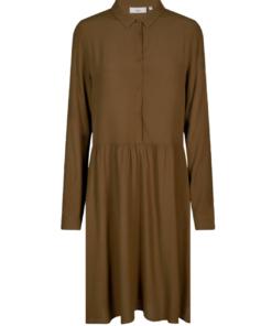 Bindie Short Dress Dark Olive