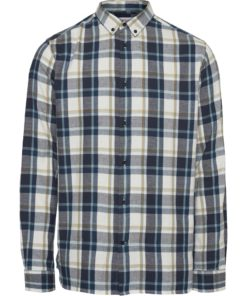 ELDER Regular Fit Light Checked Shirt Total Eclipse