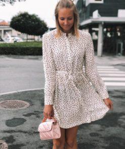 Monique Shirt Dress aop Black Drops