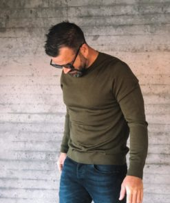 Flemming Crew Neck Dark Olive