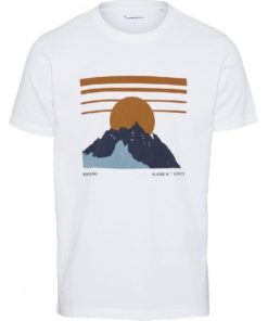 ALDER Heavy Tee Mountain Print Bright White