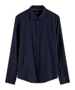 Classic Bonded Shirt Regular Fit Navy
