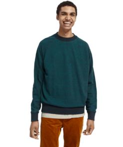 Cotton Melange Crewneck Sweatshirt Combo D
